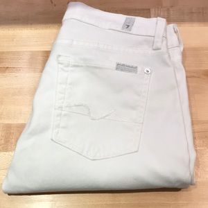7 for all Mankind josefina white jeans